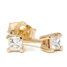1/4ct Diamond Studs 14K Yellow Gold (G/H, SI2-SI3)