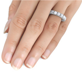 1 1/2ct Vintage Diamond Wedding Ring 14K White Gold (G/H, SI2-I1)
