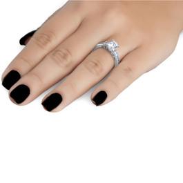 2.25CT Round Diamond Engagement Ring 14k White Gold (F, VS)