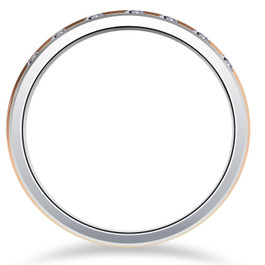 Mens 1/5ct 14K Gold Two Tone 6mm Wedding Ring Band (G/H, I1)