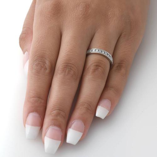 1/3ct Princess Cut Diamond Wedding Ring White Gold (H/I, I1-I2)