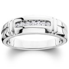Men S Wedding Bands Diamond Rings