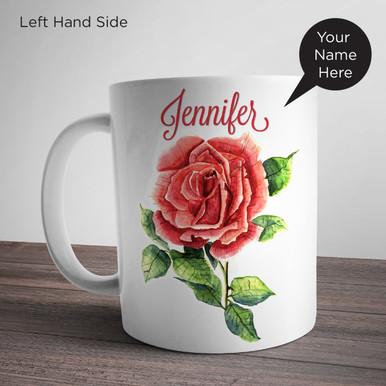 Rose Painting Personalized Mug