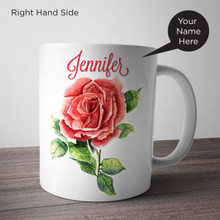 Rose Painting Personalized Mug