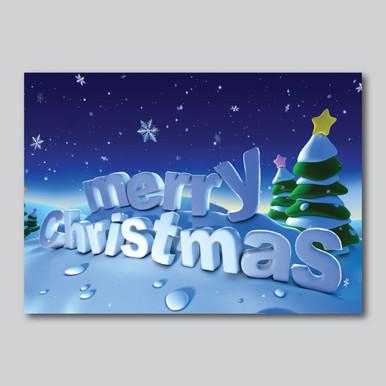 Snowy Merry Christmas Card