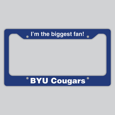 BYU License Plate Frame