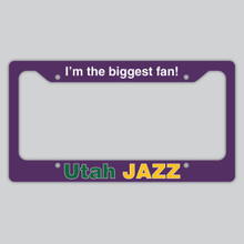 Utah Jazz License Plate Frame
