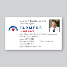 Farmers Insurance Business Card Design