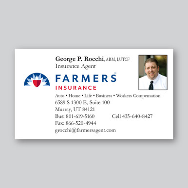 farmers insurance business card template  Farmers Insurance Business Cards - Maximage Printers