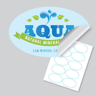 Oval Labels - 3.25 X 2 - 10 up on an 8.5x11 sheet