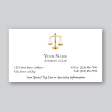 Scales of Justice Attorney at Law Business Card