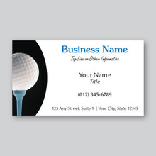 Golf Ball Business Card