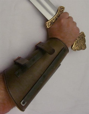 Viking Banded Leather Bracers
