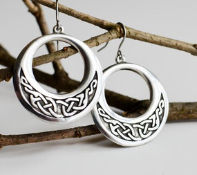 Creole Celtic Knotwork Earrings