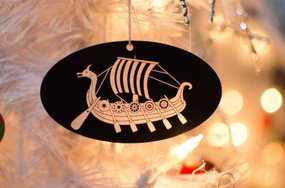 Acrylic Viking Ship Ornament