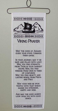 Viking Prayer Wall Hanging