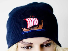Viking Ship Knit Beanie