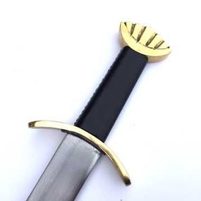 Lobed Pommel Viking Sword Brass Hilt