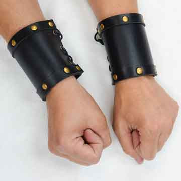 Leather Wrist Bracers