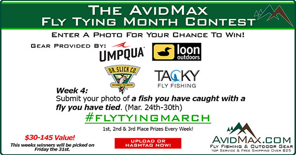 The AvidMax Fly Tying Month Photo Contest