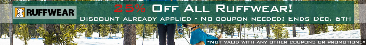 Ruffwear 25% Off Thanksgiving Sale