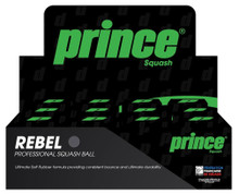 Prince Rebel Yellow Dot Squash Balls 12 Pack