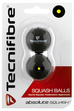 Tecnifibre Single Yellow Dot Squash Balls 2 Pack