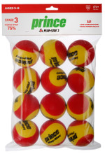 Prince Play + Stay Stage 3 Foam Junior Tennis Balls Dozen