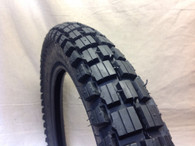 3.00 X 17 DURO TYRE HF307 BLOCK TRAIL TREAD CT110