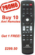 Promotional Buy 10 Ami remotes get 1 free