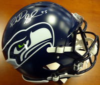 Richard Sherman Autographed Seattle Seahawks Full Size Speed Authentic Helmet In Silver