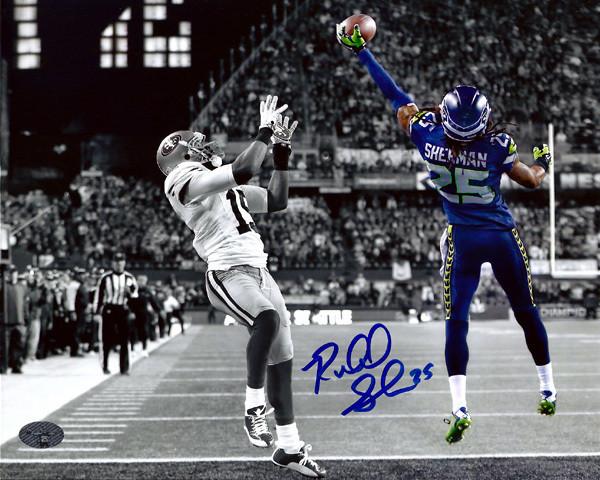 Richard Sherman Autographed 8x10 Photo Seattle Seahawks The Tip RS Holo