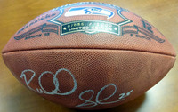 Richard Sherman Autographed Super Bowl Champions Leather Football Seattle Seahawks RS Holo Stock #86601
