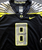 Marcus Mariota Autographed Black Nike Jersey Oregon Ducks