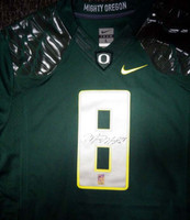 Marcus Mariota Autographed Green Nike Jersey Oregon Ducks Size Large MM Holo