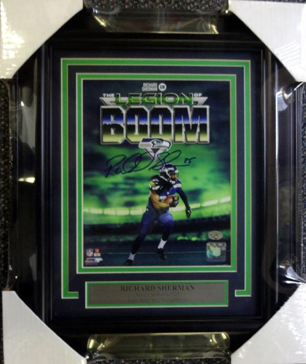 Richard Sherman Autographed Framed 8x10 Photo Seattle Seahawks RS Holo