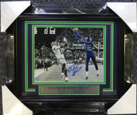 Richard Sherman Autographed Framed BW 8x10 Photo Seattle Seahawks The Tip RS Holo