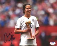 Carli Lloyd Autographed 8x10 Photo Team USA PSA/DNA ITP