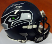 Frank Clark Autographed Seattle Seahawks Speed Mini Helmet Signed In Silver MCS Holo Stock #94289