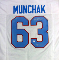 "Mike Munchak Autographed Houston Oilers Jersey ""HOF 2001"" PSA/DNA"