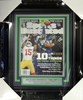 Richard Sherman Autographed Framed Sports Illustrated Magazine Seattle Seahawks The Tip RS Holo