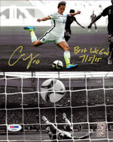 "Carli Lloyd Autographed 8x10 Photo Team USA ""Best WC Goal 7/5/15"" PSA/DNA"