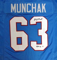 "Mike Munchak Autographed Blue Houston Oilers Jersey ""HOF 2001"" PSA/DNA"