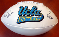 "Gary Beban Autographed White Logo Football UCLA Bruins ""67 Heisman"" PSA/DNA"