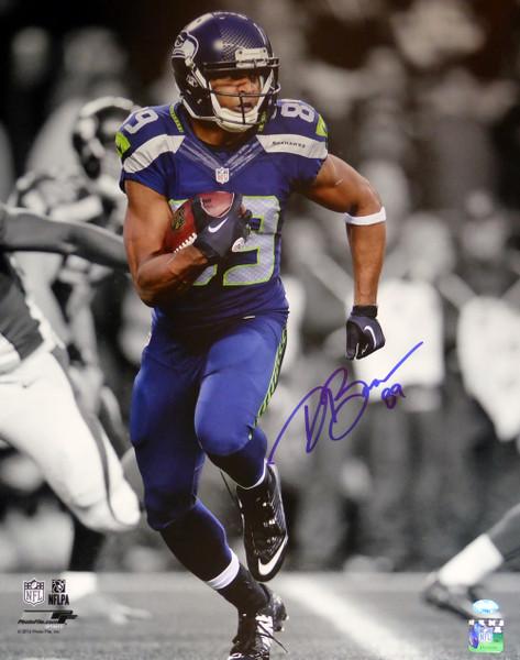 Doug Baldwin Autographed 16x20 Photo Seattle Seahawks In Blue MCS Hologram