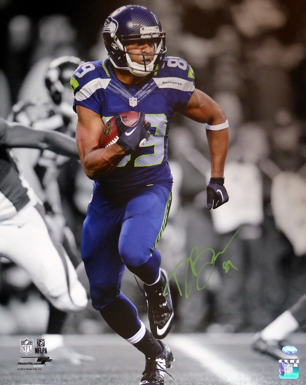 Doug Baldwin Autographed 16x20 Photo Seattle Seahawks In Green MCS Holo