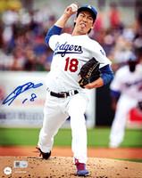 Kenta Maeda Autographed 8x10 Photo Los Angeles Dodgers MLB Holo