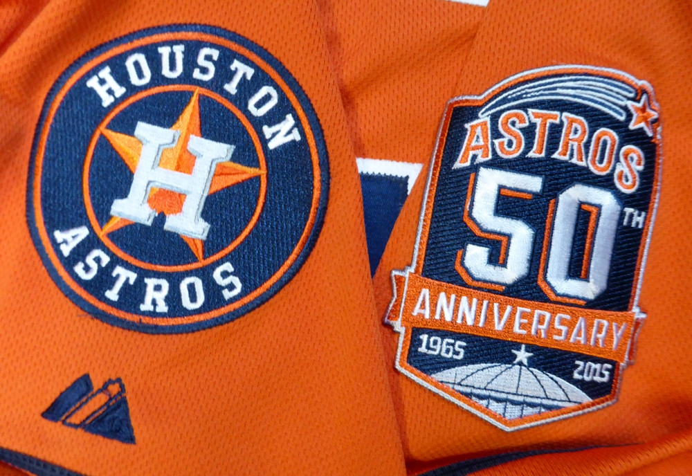 Houston Astros Carlos Correa Autographed Authentic Majestic Orange Jersey Size 48 2015 50th Anniversary Patch MLB Holo
