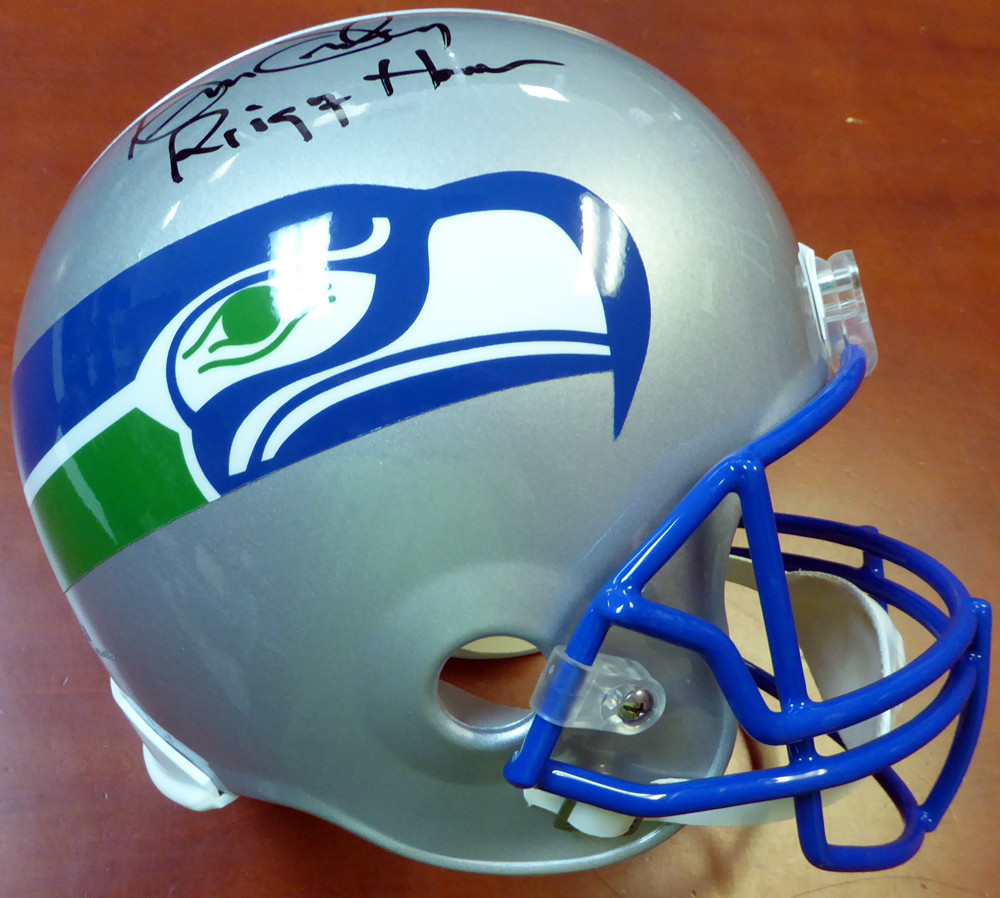 """Kenny Easley Autographed Seattle Seahawks Full Size Helmet """"Ring Of Honor"""""""