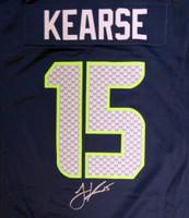 Seattle Seahawks Jermaine Kearse Autographed Blue Nike Jersey Size XL